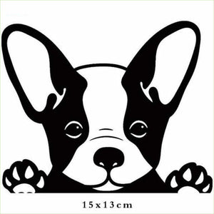 French Bulldog Peeking Paws Dog Car Stickers & Decals - thediggitydogstore.com