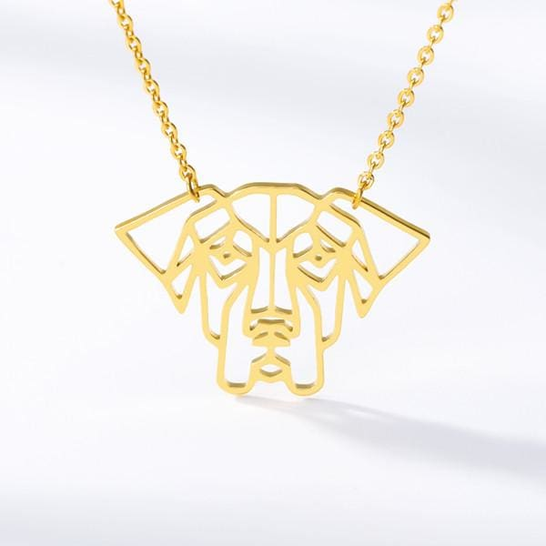Geometric Dog Pendant Necklaces Modern And Chic - thediggitydogstore.com