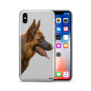German Shepherd - Clear TPU Case Cover - thediggitydogstore.com