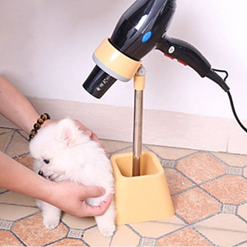 Hair Dryer Holder For Dog Grooming. Dryer Floor Mount 180 Angle Rotatable - thediggitydogstore.com