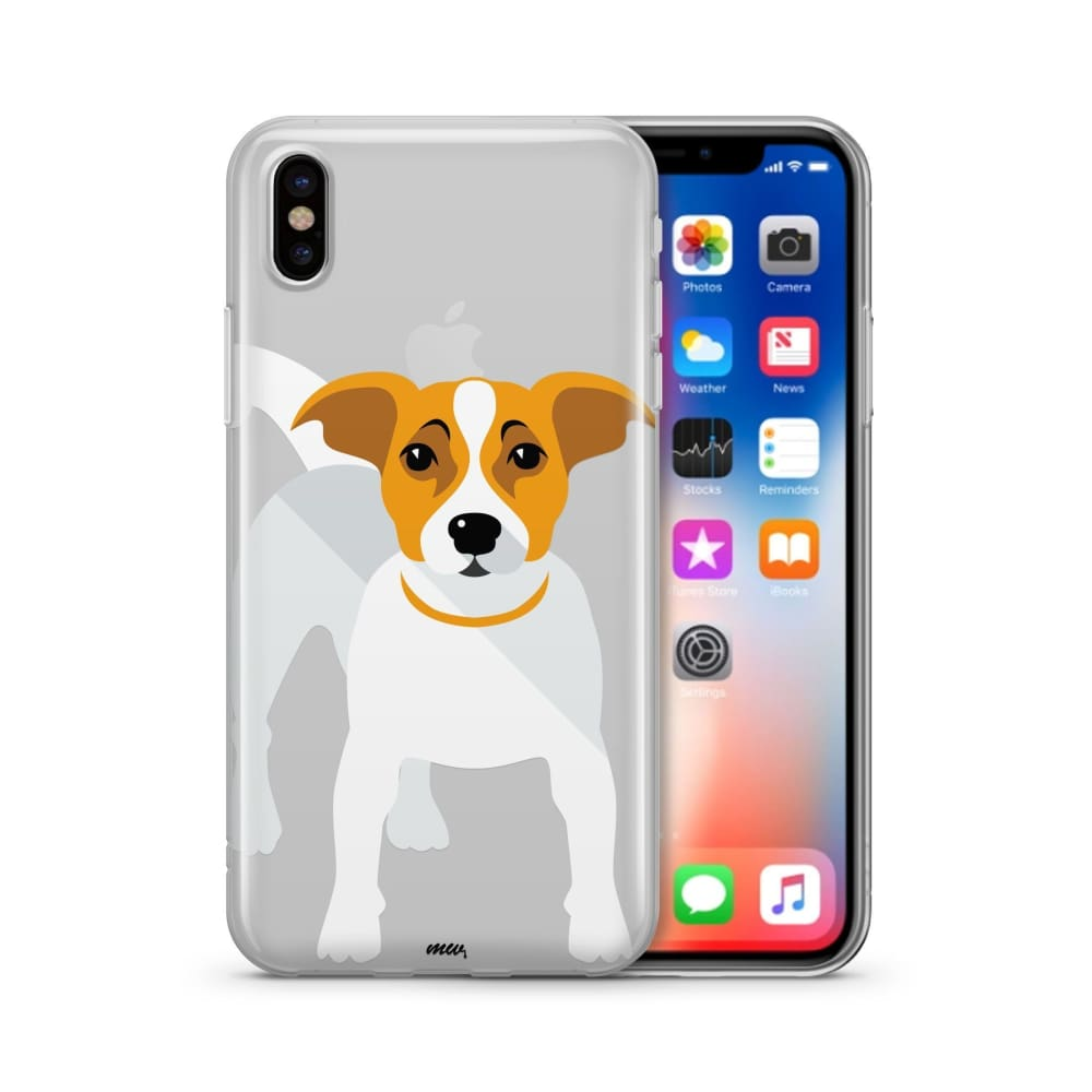 Jack Russell Terrier - Clear TPU Case Cover - thediggitydogstore.com