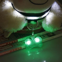 LED Light Up Dog Bone ID Tag. Light Them Up Keep Them Safe! - thediggitydogstore.com