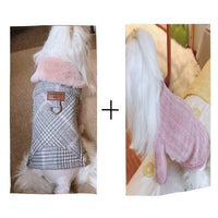 Luxury Winter Dog Woolen Clothes With Fur Collar Puppy Yorkshire Dogs Jacket Coat Clothing For Small Medium Pet Chihuahua - thediggitydogstore.com
