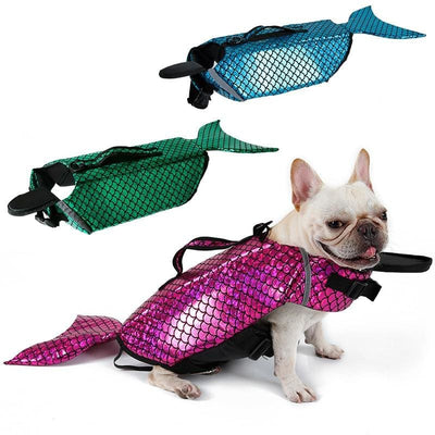 Mermaid Dog Lifejacket Keep Your Dog Afloat! - thediggitydogstore.com