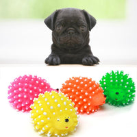 New 1pcs Cute Hedgehog Shaped Dog Squeaky Ball Funny Toy  NE724 - thediggitydogstore.com