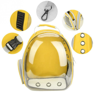 New Style of Portable Small Dog Backpack With Transparent Capsule - thediggitydogstore.com