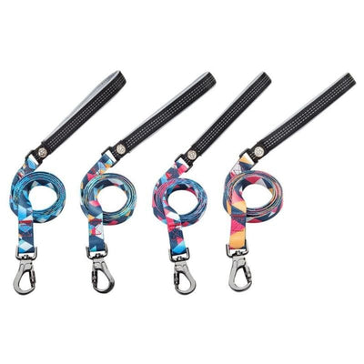 Nylon Collar Color block Rhombus Leashes, Hip And Very Cool - thediggitydogstore.com