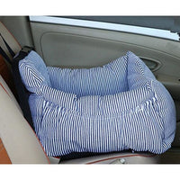 Padded Car Seat Dog Carrier. Striped With Pockets! - thediggitydogstore.com