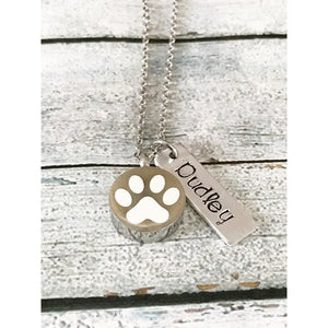 Pet loss - Hand stamped necklace - Pet memorial - thediggitydogstore.com
