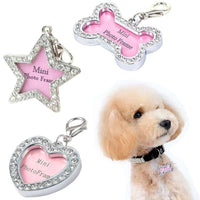 Photo Frame ID Tag Pendant Sparkly! - thediggitydogstore.com