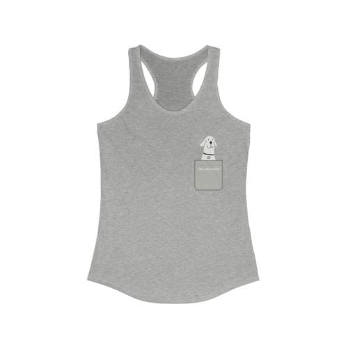Pocket Style Feel Like Buddies Racerback Tank Top - thediggitydogstore.com