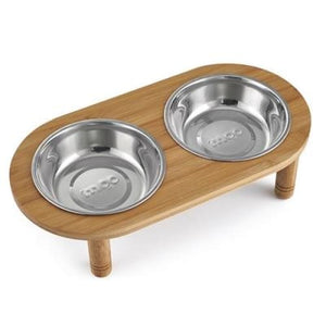Premium Elevated Dog Double Bowl Raised Stand - thediggitydogstore.com