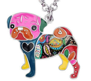 Pug Dog Necklace For Dog Lovers Adorable! - thediggitydogstore.com