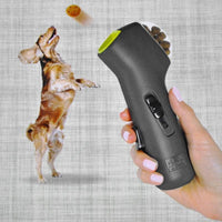 Push Button Catapult Dog Treat Launcher! Ready, Aim, Shoot Out Your Dog Snacks! - thediggitydogstore.com