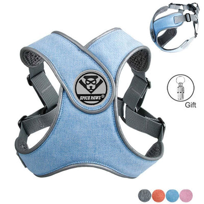 Reflective Small Dog Harness And Leash Set - thediggitydogstore.com