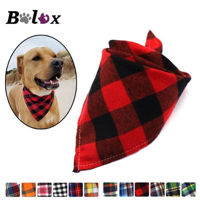 Reversible Dog Bandanas In Many Plaid Patterns. Very Nice Looking - thediggitydogstore.com