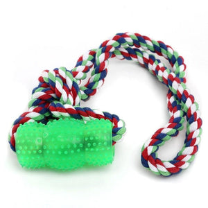 Rubber & Rope Chew Dog Toy - thediggitydogstore.com