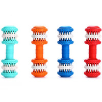 Rubber Toy Dumbbells Dog Tooth Cleaner Two Sizes, 4 Colors - thediggitydogstore.com