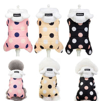 Small Dog Clothes Winter Jumpsuit For Pug Poodle Husky Jumpsuits Romper Coat 2019 Thickening Pet Clothing Puppy Cat Jumpsuit FHG - thediggitydogstore.com