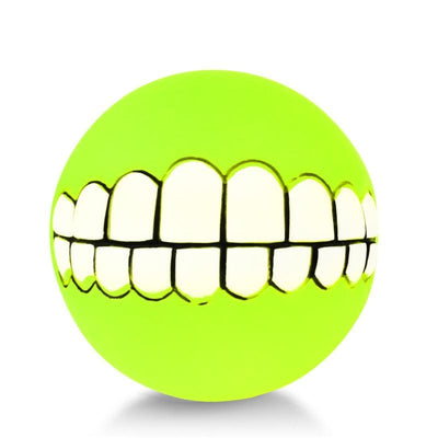 Smiley Teeth Dog Ball - thediggitydogstore.com