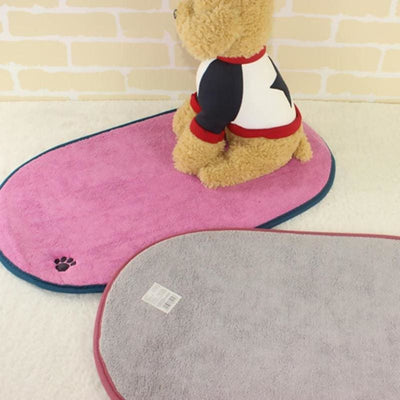 Soft Flannel Fleece Dog Mat - thediggitydogstore.com