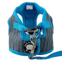 Soft Puppy Or Small Dog Harness and Leash Set In Fun Colors! S M L XL - thediggitydogstore.com