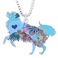 Stunning Enamel Golden Retriever Pendant Necklace. Colorful! - thediggitydogstore.com