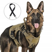 Tactical Dog Harness For Large Military Or Service Dogs With Adjustable Handles - thediggitydogstore.com