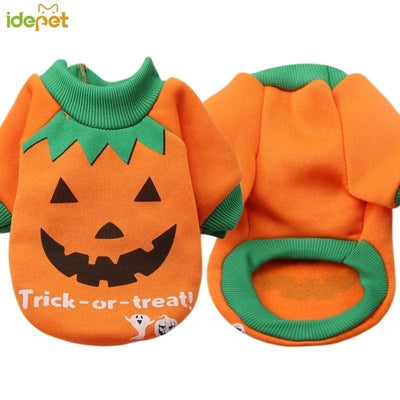 Turn Your Little Fur Baby Into A Pumpkin! Adorable Pumpkin Costume - thediggitydogstore.com