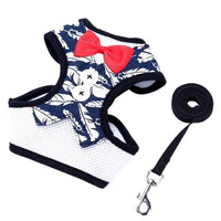 Tuxedo Dog Vest With Matching Leash S-L - thediggitydogstore.com