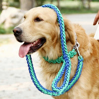 Very Strong Braided Leash And Collar Set. Nylon - thediggitydogstore.com