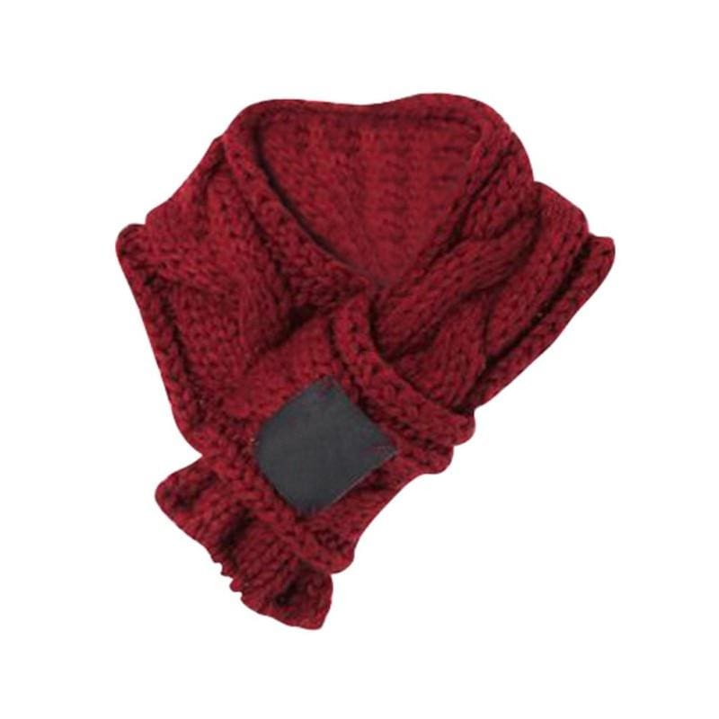 Warm Winter Dog Scarves In Small & Large. Green & Red - thediggitydogstore.com