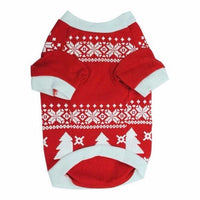 Winter Dog Sweater Nordic Pattern Holiday Pattern - thediggitydogstore.com