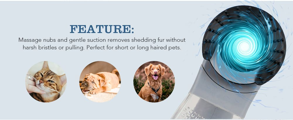 Electric Portable Dog Massager Vacuum
