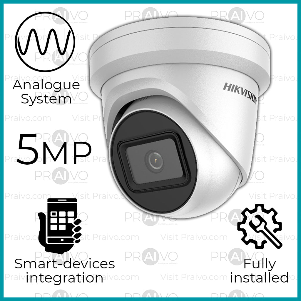 Series-5 Analogue 5MP HD+ Hikvision Dome Camera CCTV System (Free Installation) - Praivo