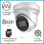 Ultra Range 8MP Analogue UHD (4K) Hikvision Dome Camera CCTV System (Including Installation)