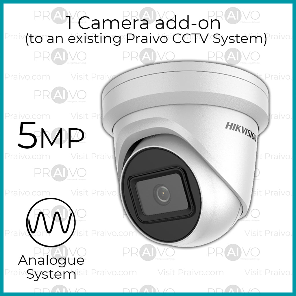 Add-on: 5 Megapixel Analogue HD+ CCTV Camera (Free Installation) - Praivo