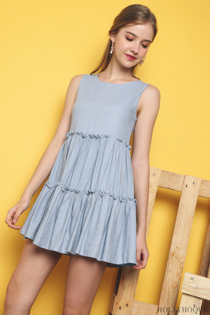 f769e833161 In a babydoll cut and tiered design