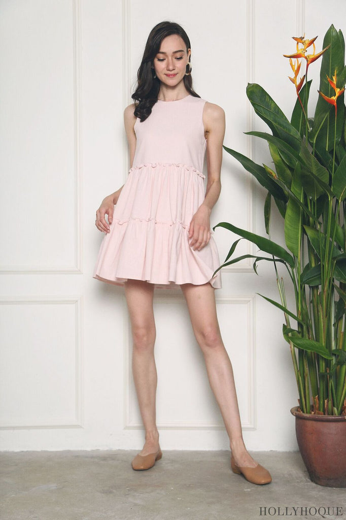 69908d5b95d958 Stand in Line(n) as the Coco Linen Babydoll Dress