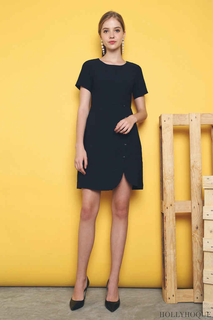 db2e04fdc6 The Kazi Shift Dress (Black