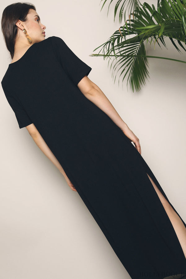 Skyler Jersey Maxi Dress Black (Restock)
