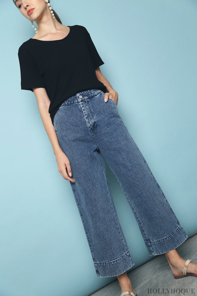 Leister Denim Pants Dark Denim