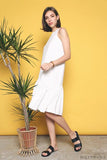 Windser Peplum Midi Dress White (Backorder)