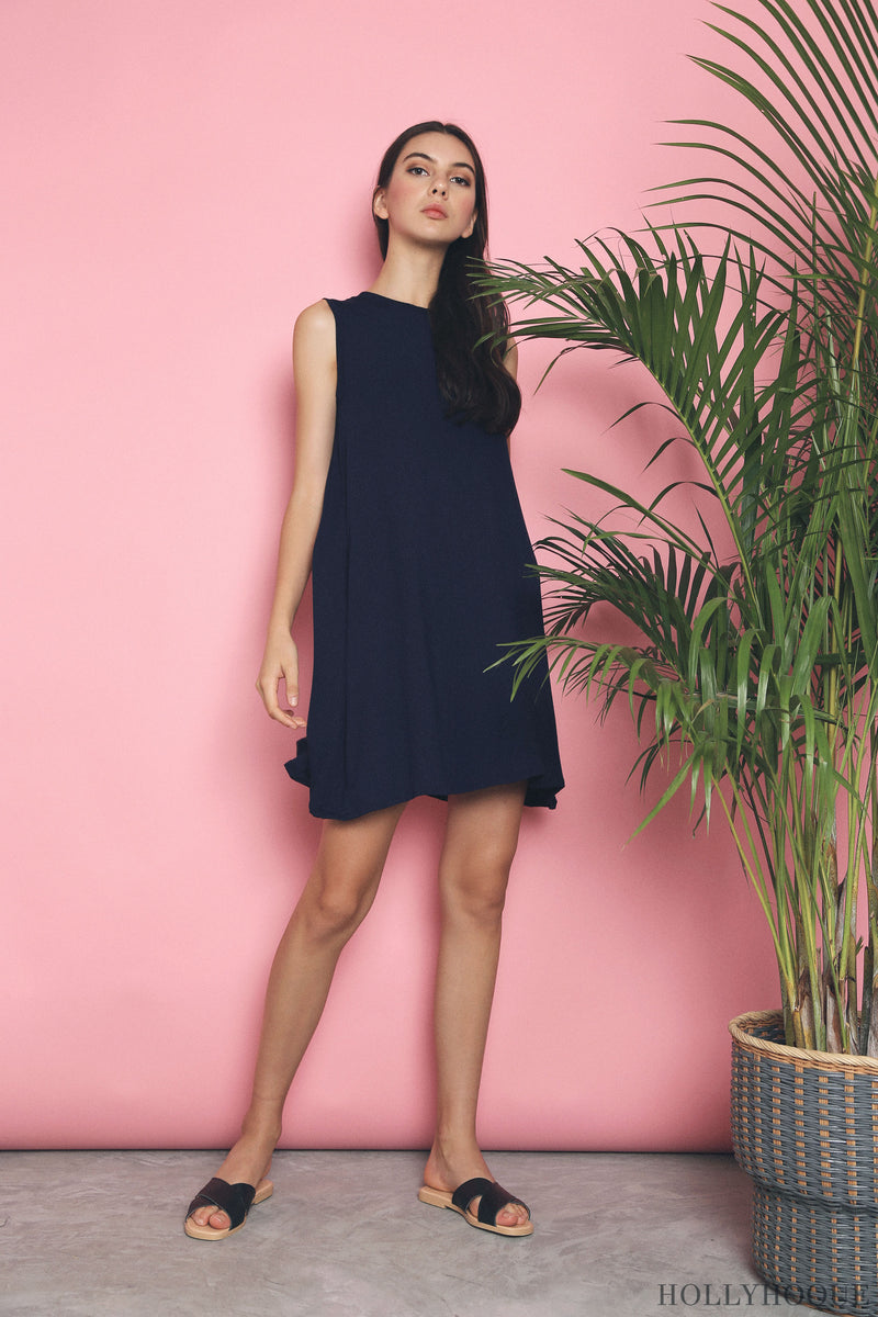 Kyer Sleeveless Basic Dress Navy (Restock)