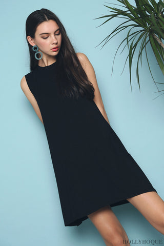 Kyer Sleeveless Basic Dress Black (Backorder)