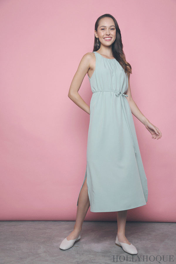 Ashlee Pleat Around Dress Mint