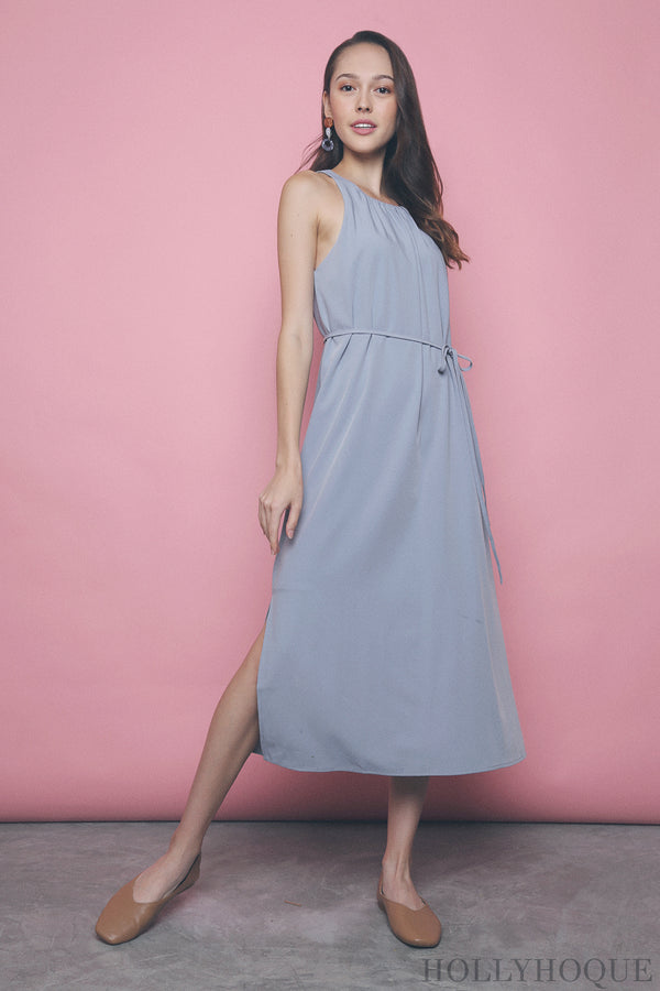 Ashlee Pleat Around Dress Sky Blue