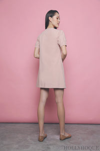 Bellini Button Down Linen Dress Daisy Pink