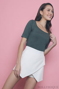 Brandy Square Neck Knit Top Jade