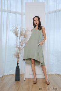 Brussels Sleeveless Shift Dress Mint